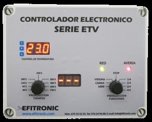 panel de control torno